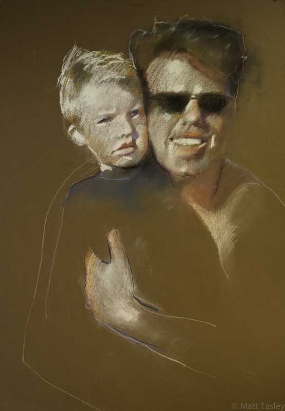 """Bruce and Dutch"", Pastel on paper, 24"" x 18"""