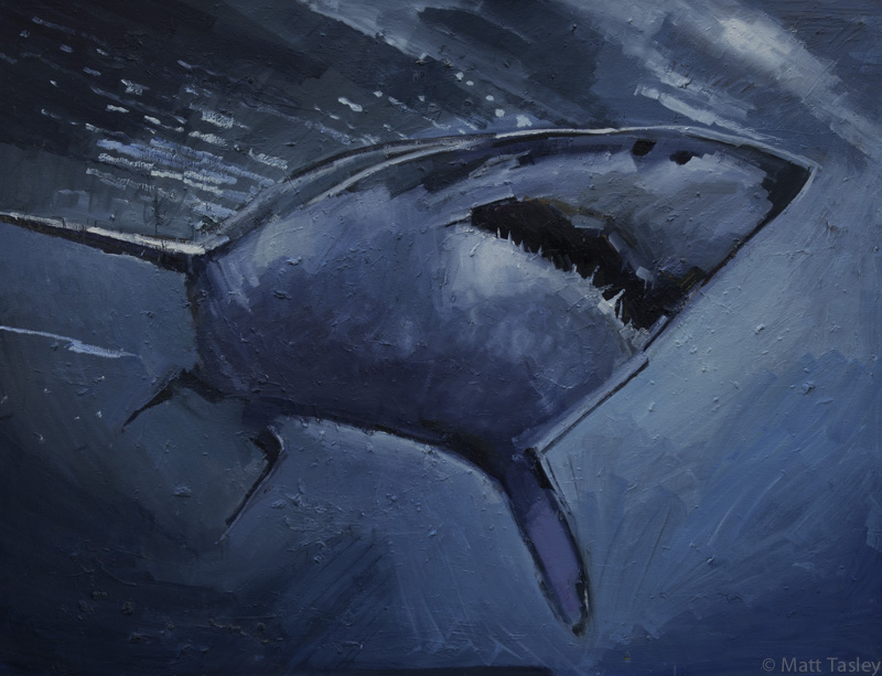 """Shark"", Oil on canvas, 60"" x 84"""