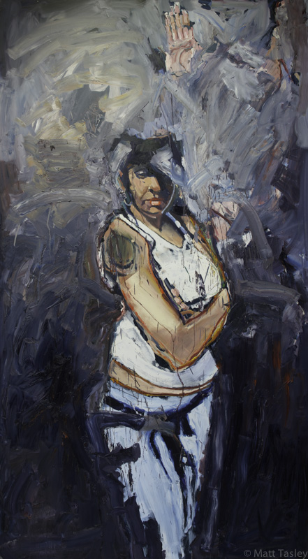 %22Cafe Girl%22, oil on masonite, 84%22x 60%22.jpg