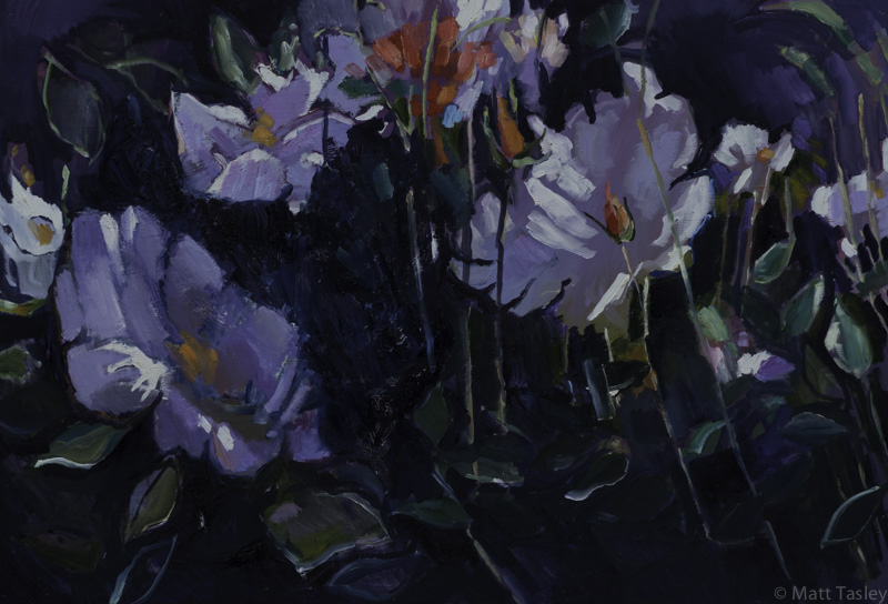 %22Lillies%22 , oil on masonite, 24%22x 35%22.jpg