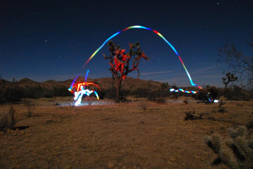 Lantern and Headlamp fun in Joshua Tree, CA