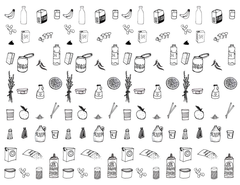 Ingredients pattern was a collaboration with  Greta Aalborg-Volper .
