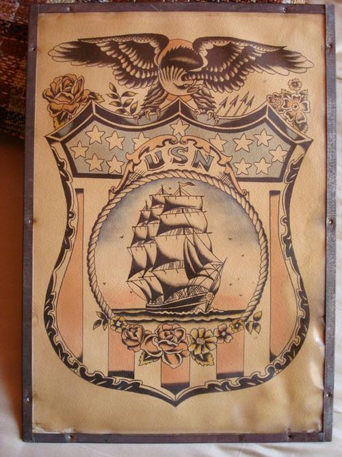 Vintage Flash Collection Tahiti Felixs Master Tattoo Parlor