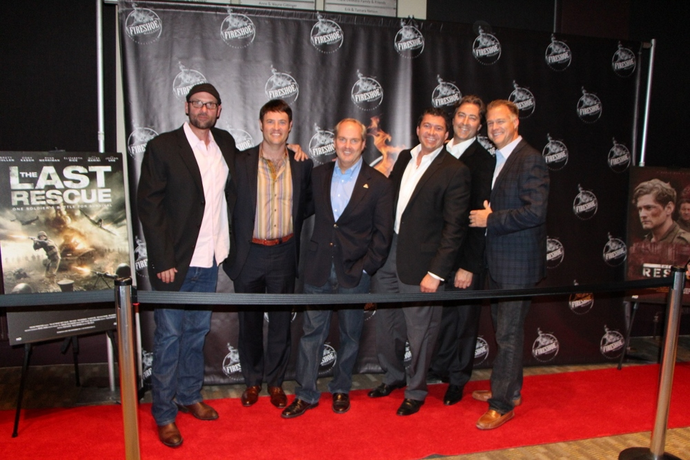 From left to right, the members of Good Message Films: Tony Doupe (actor and instructor), Charles Wadlow (executive search guru), Brad Vancour (founder), Ben Katon (real estate developer), James Sunstad (marketing guru) and Joel Petersen (US Trust VP and chairman of Bellevue Museum of Arts).