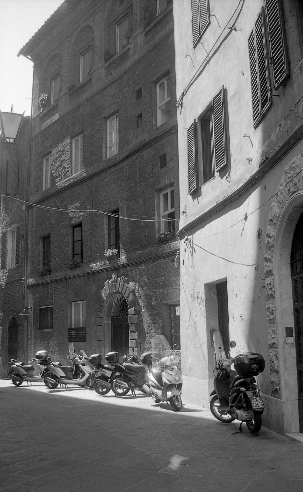 mopeds. 35mm film.