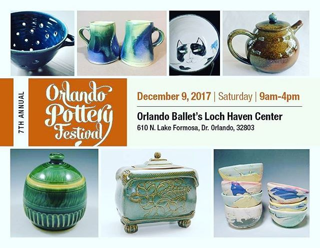 This Saturday! 🏺🏺🏺 Another chance to see us and get your holiday gifts before the season is over! 💟 Happy holidays! 😙😙😙🎄🕎🕯❇ #orlandopotteryfestival #saturday #minguezpottery