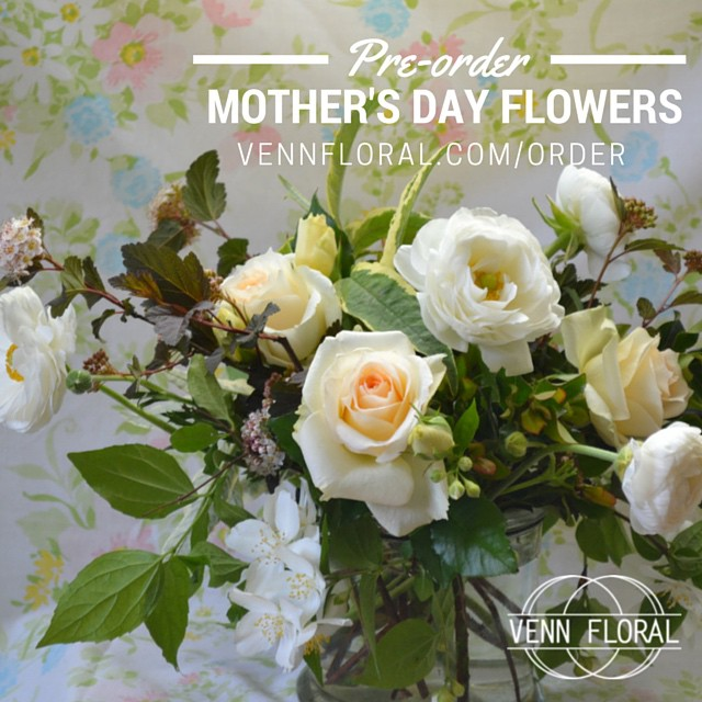 Don't forget to place your order for Mother's Day! We have 3 great pick up locations around the county, 3 beautiful palette options, and all for under $50! Visit www.vennfloral.com/order and feel calm, cool, and collected about your purchase!