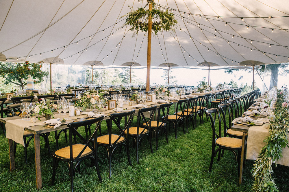 Greenery Chandeliers, Garlands, and Flowers by Venn Floral | Photo by Lucille Lawrence
