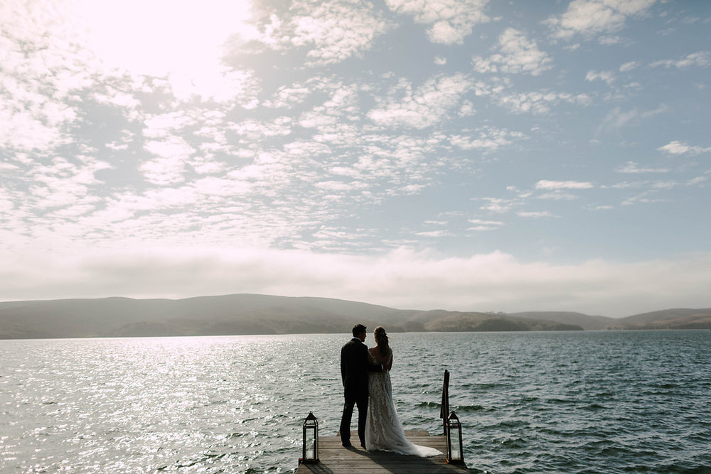 Tomales Bay wedding with Venn Floral and Levi Tijerina.
