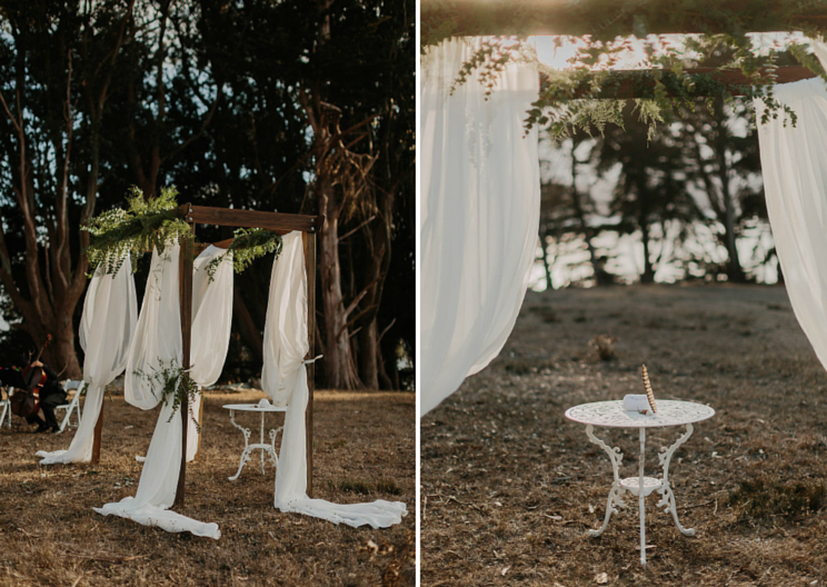 West Marin wedding flowers by Venn Floral at Straus Home Ranch, photo by Levi TIjerina.