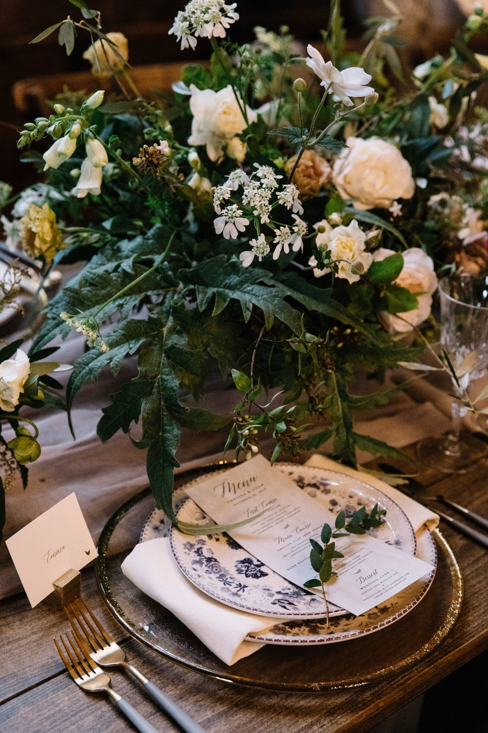 Lush and natural wedding inspiration with lots of greenery by Venn Floral in Sonoma County photographed by Lucille Lawrence