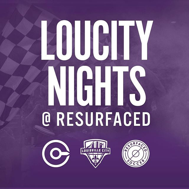 Tonight! Join @Louisvilleciyfc for #LouCity Nights at ReSurfaced. Games start at 6pm and we are open at 5pm! #louisville #soccer