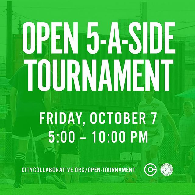 Tonight! Open 5-A-Side Tournament from 5-10pm. Come down to take in the competition while consuming delicious local food and beer! It's gonna be fun!