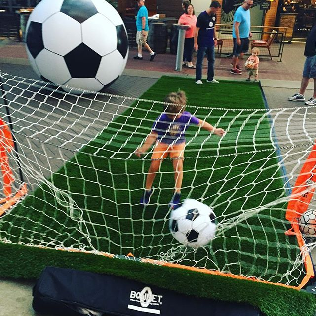 Come on down to @4thstlive to watch the @louisvillecityfc game and kick around now! Special thanks to @centerforneighborhoods for providing the turf 👍