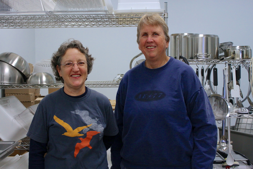 Debbie Donnald (left) and Audrey Lin of Two Chicks Farm