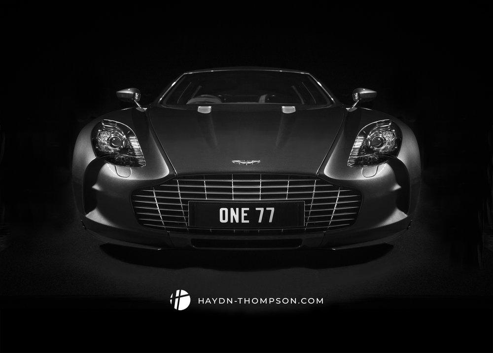 Exterior automotive photo of the model One 77 - Aston Martin. Ph