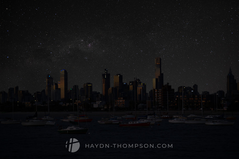 Dusk Melbourne - With night sky (Small Size - Watermark).jpg