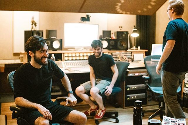 Recording. In the studio with the wizard @skellycaster. 📷 @kelseyayres