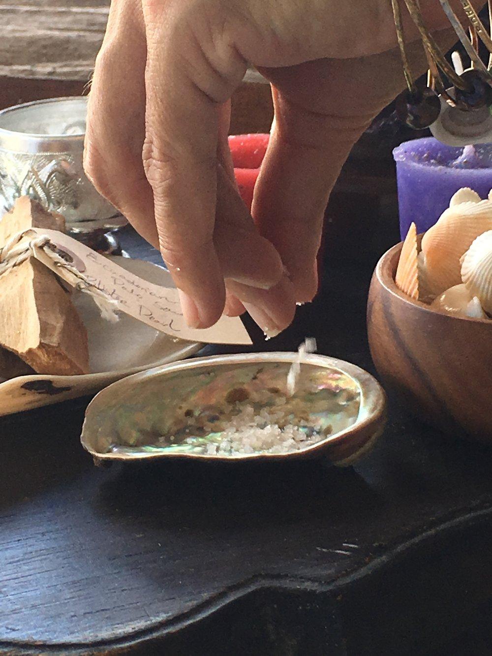 Salt offering