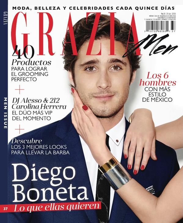 Grazia Magazine - Diego Boneta