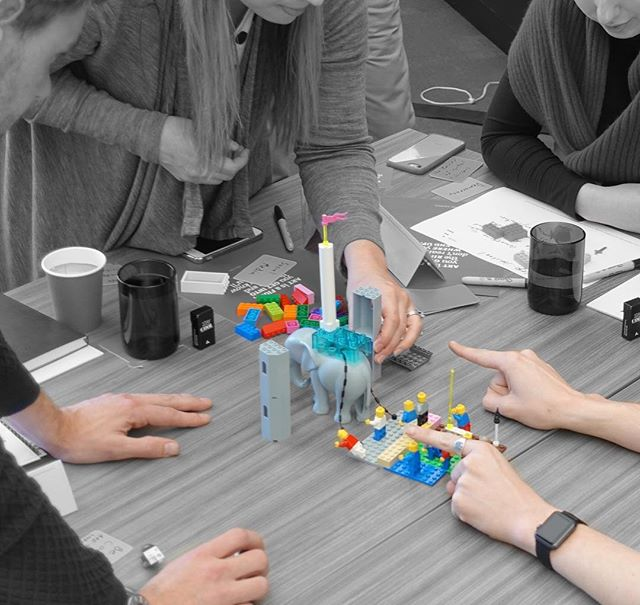 """""""Let your hands do the thinking"""". #LegoSeriousPlay #creativity #innovation #LEGO #metaphor #workshop #facilitation #meetings #story #hands #play #storytelling"""