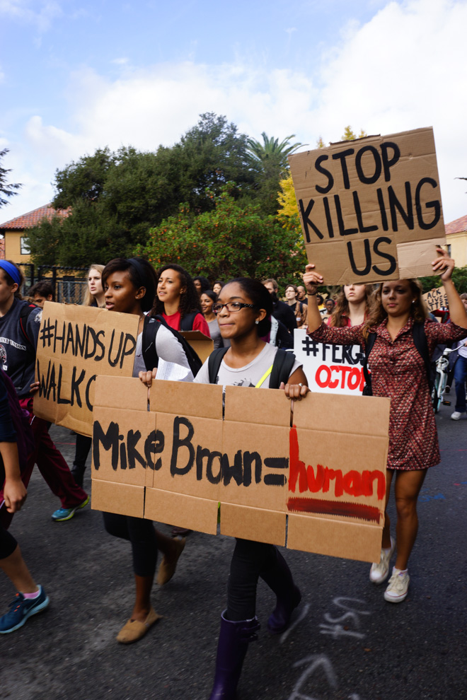 Stanford students participated in protests in their hometowns over winter break.