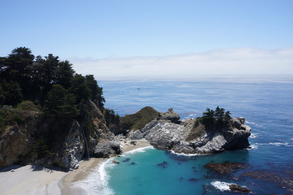 The quintessential McWay Falls photograph, in Julia Pfeiffer Burns State Park. Here, we see a glimpse of scenery plied by the best outdoor photographers.