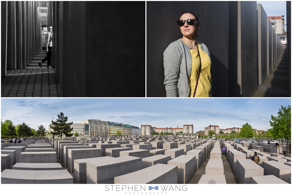 At the Holocaust Memorial, you can wander through hundreds of pillars that vary in height.  The memorial's artist offers no specific explanation for the design, purposely leaving the interpretation of the memorial to the individual experiencing it.