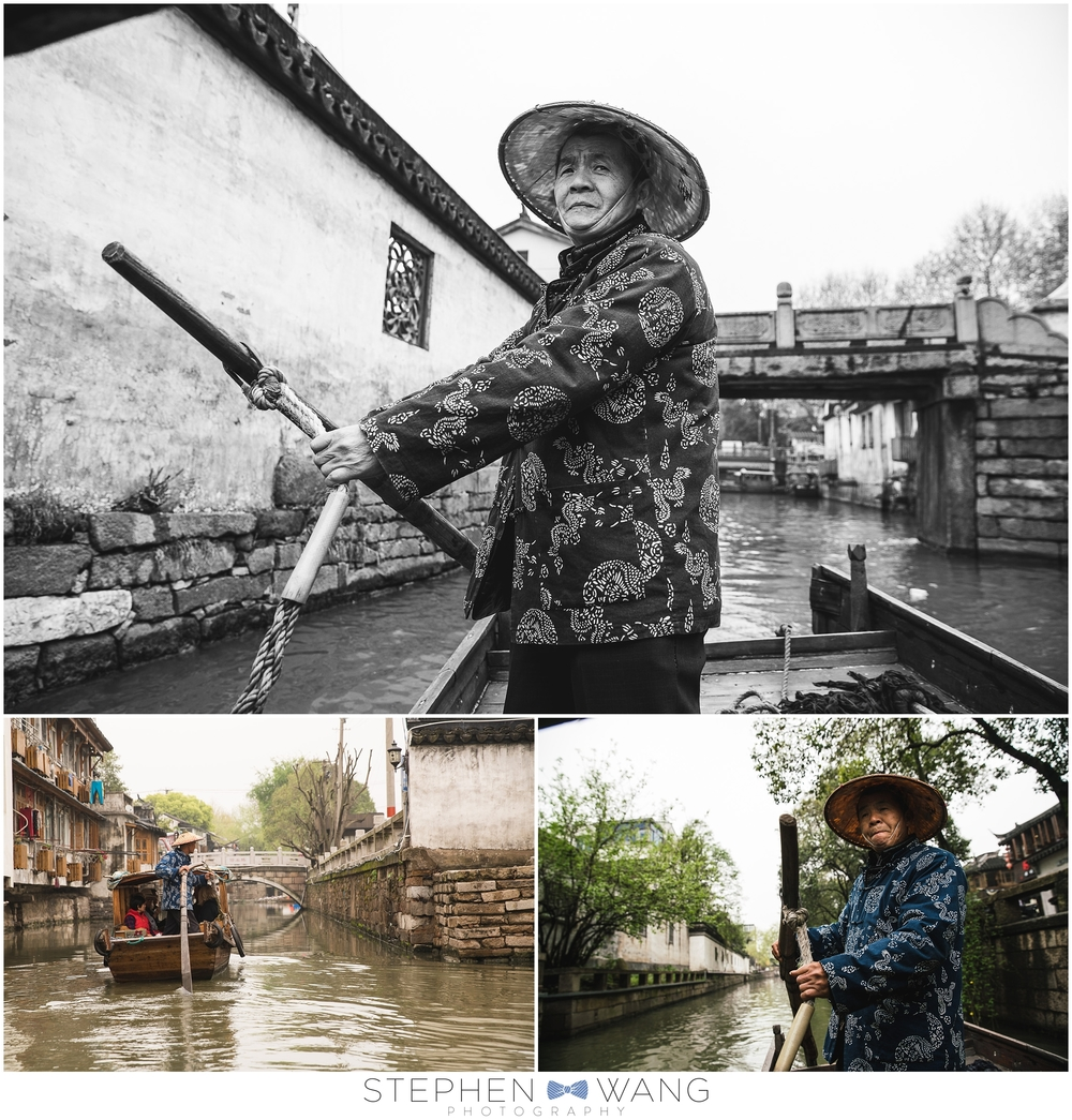 We took a day trip to Suzhou, which is where my grandmother is from.  This fella gave us a boat ride through some of the canals that run through the city, old-school China style.
