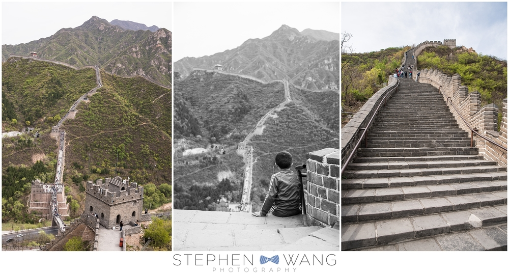 My favorite part of the trip was visiting the Great Wall.  We hiked up the equivalent of about 110 flights of stairs (according to my iPhone), equaling maybe a mile or two.  And the wall spans over 5000 miles in total.  Mind=blown.