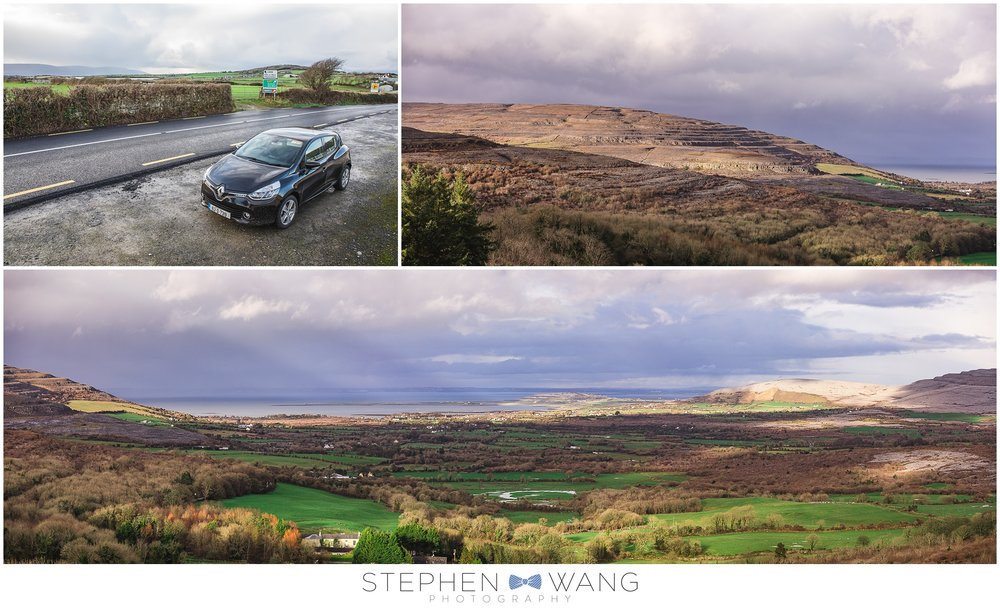 On our way to the Cliffs of Moher, we stopped just to take in the views.  Great panoramic landscapes, and of course, our trusty little Renault rental.