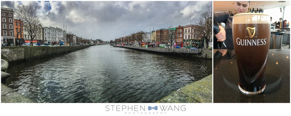 The Grand Canal, right near our hotel - and my first Dublin Guinness, straight from the Guinness Storehouse!