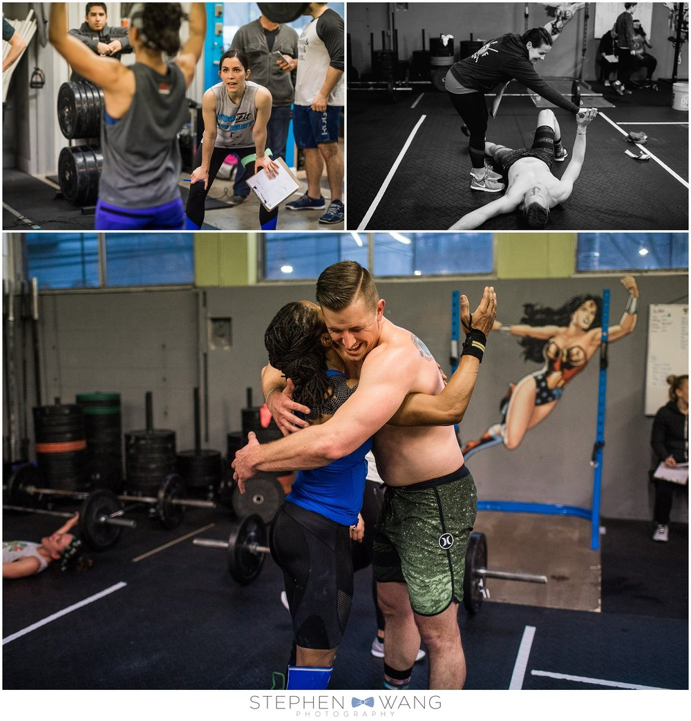 The encouragement of the Crossfit community