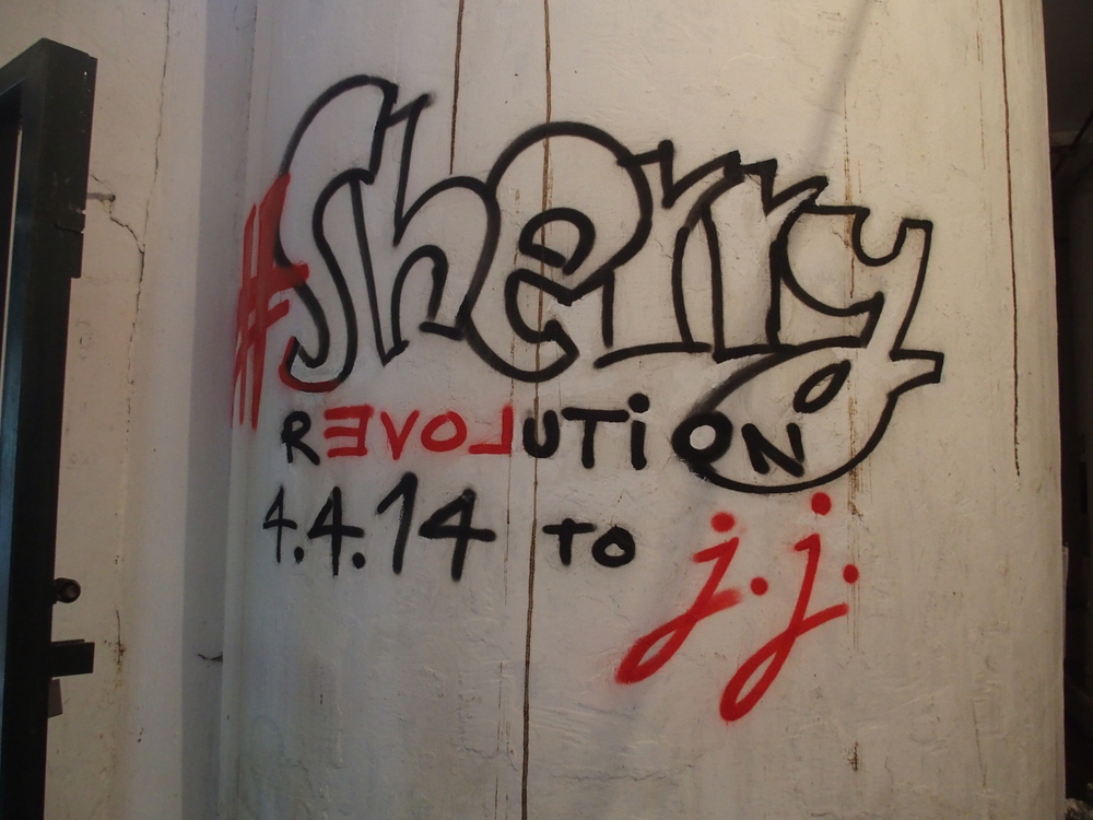 Sherry Revolution Grafitti at Cesar Florido.JPG