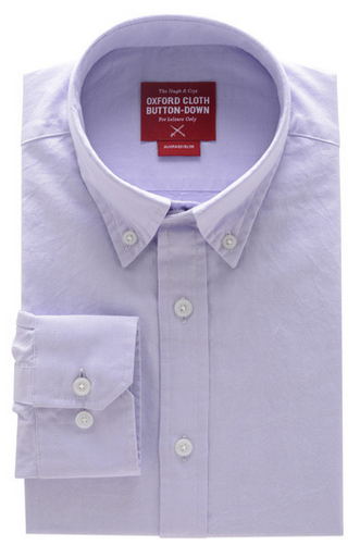 This lavender shirt is simple yet perfect to swap out your tired blue shirt with    (Courtesy of Hugh & Crye)