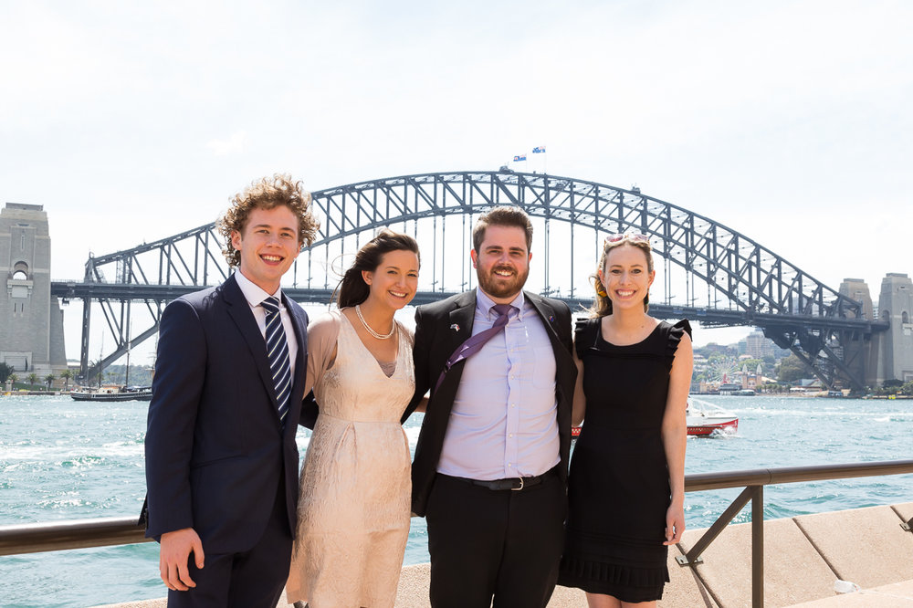2016 Advance Global Australian Awards Mentees Aidan Slack, Tahlia Rossi, Thomas Brown and Tessa Marshall