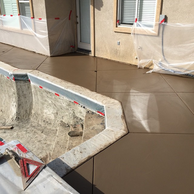 During the process of concrete flat work