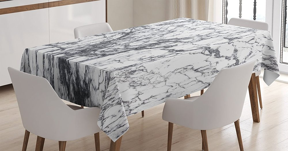10) MARBLE TABLECLOTH This one is so simple and so perfect. & Friday Favorite\u0027s White Marble Everything \u2014 folk