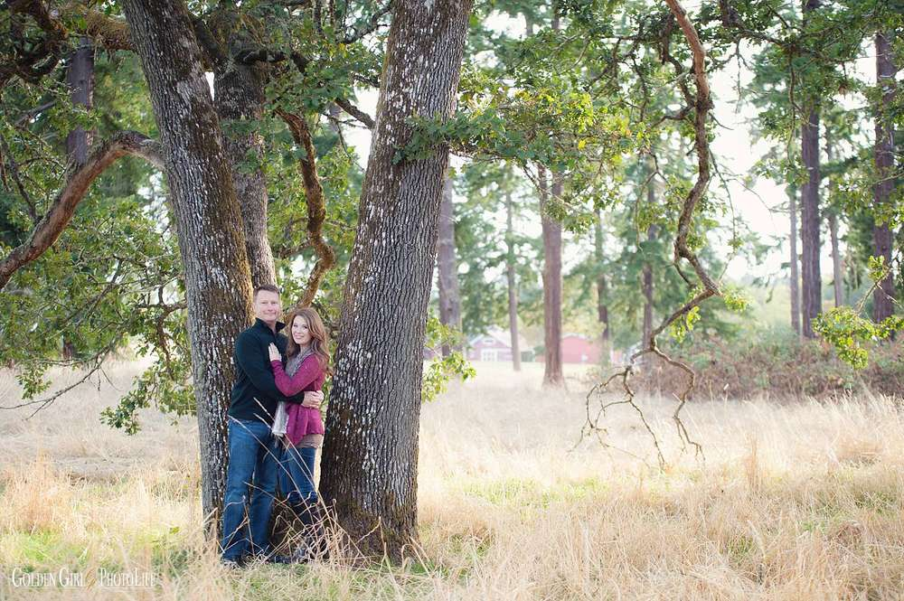 Romantic captivating engagement session at Fort Steilacoom Park Tacoma photo