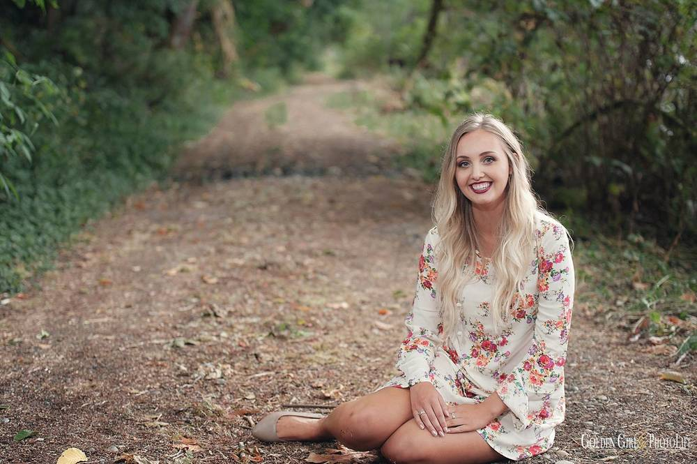 CKHS senior kitsap fashion forest photo