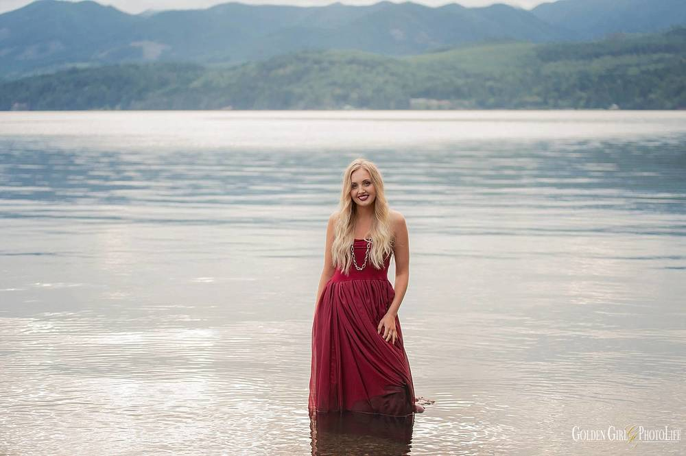 Gig Harbor senior photo session water amazing picture
