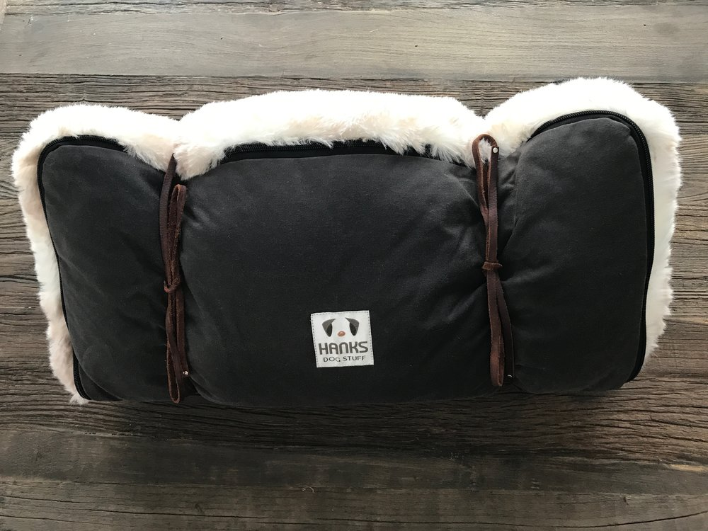 Faux Fur Travel Pad - CLOUD - Iced Mink