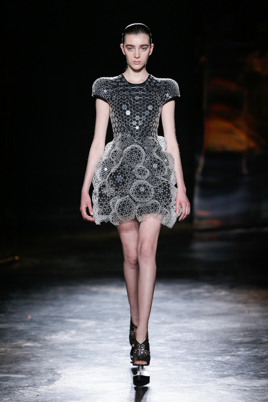 Iris van Herpen laser cut dress
