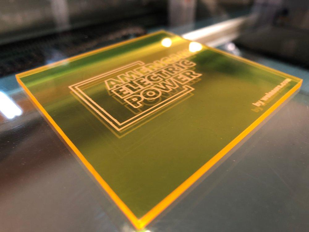 laser cut AEP coaster