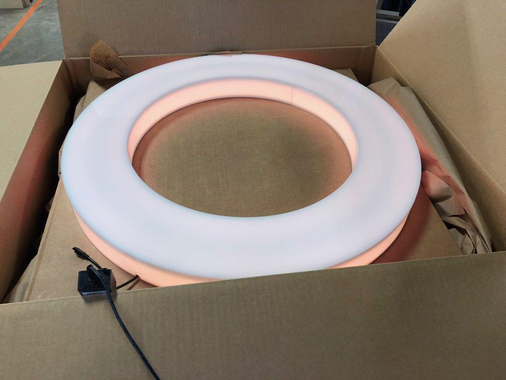Laser cut acrylic LED sign