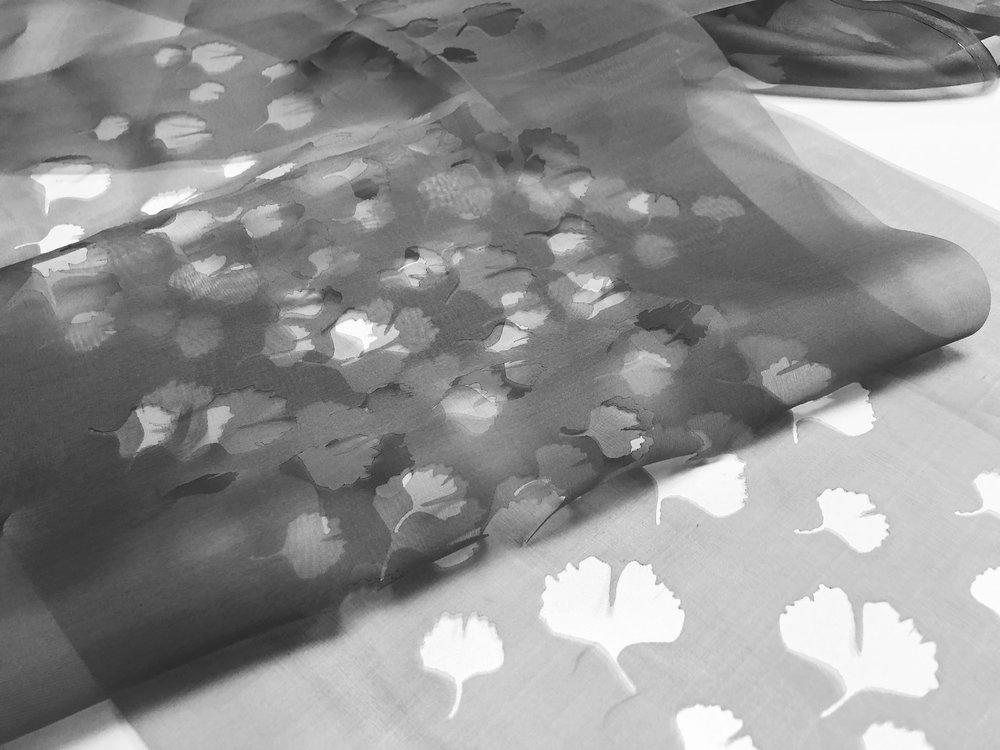laser cut silk