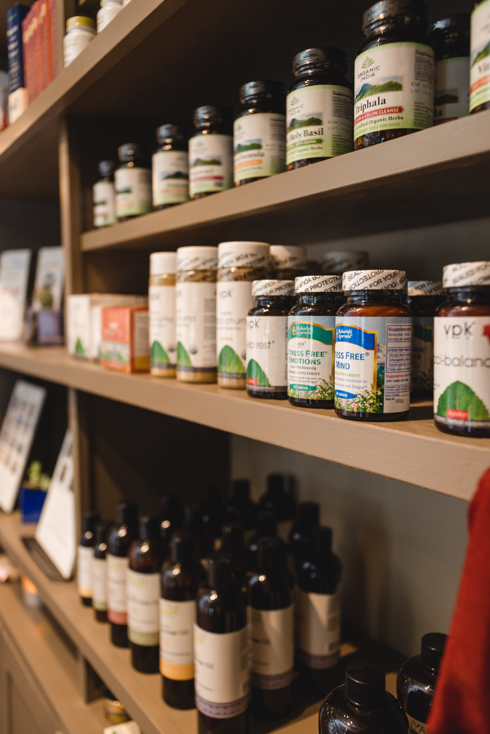 Curated herbal pharmacy available.