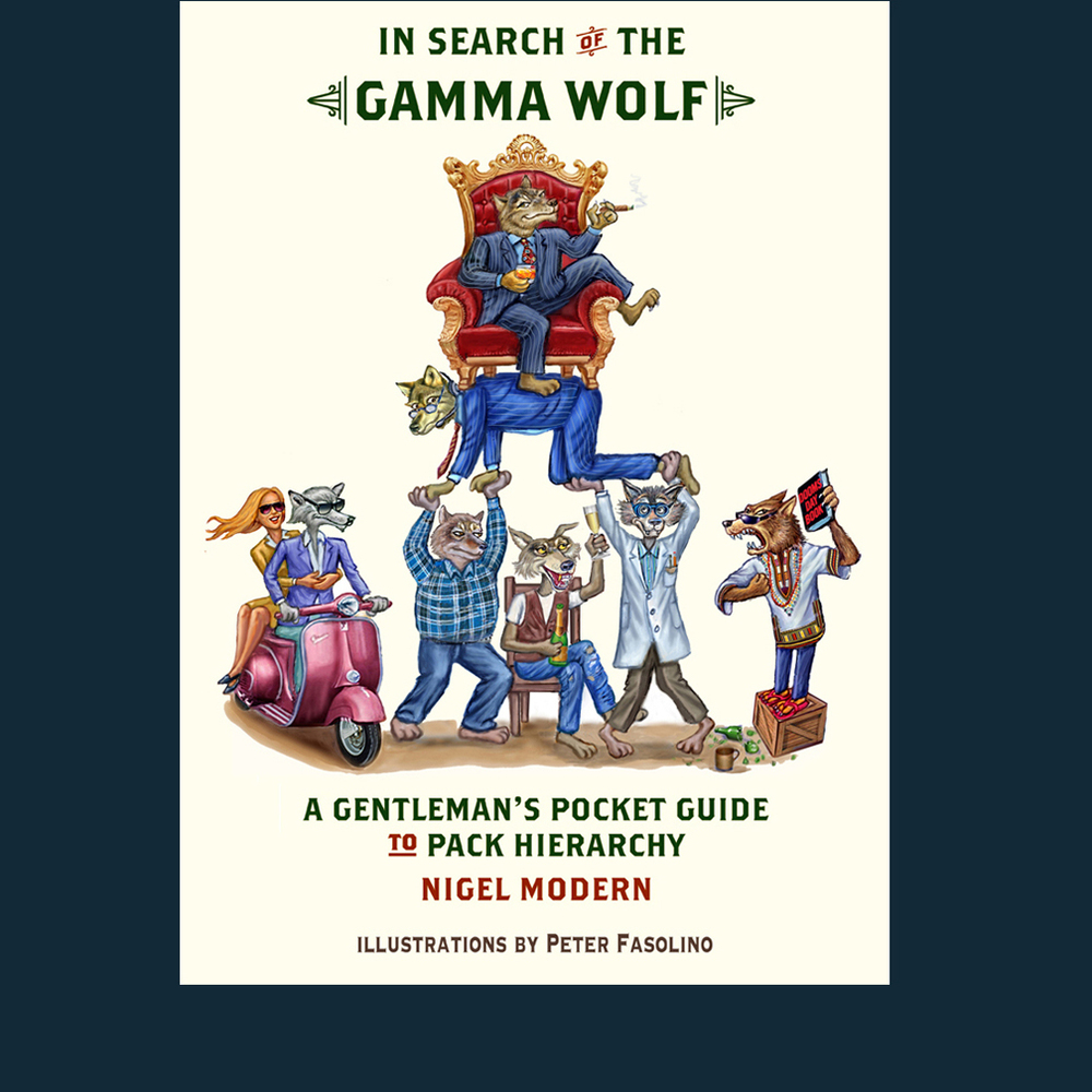 Book Cover for a spoof on wolf pack hierarchy in the financial world.