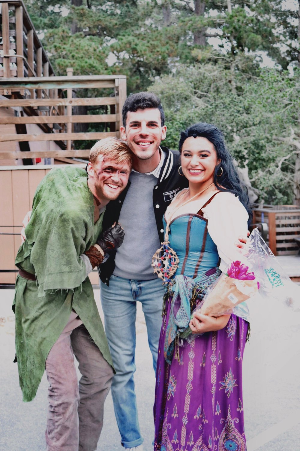 Actors Malakai Howard and Taylor Perez Rhoades with director Andrew Marderian after a performance of  The Hunchback of Notre Dame  (July 2018).