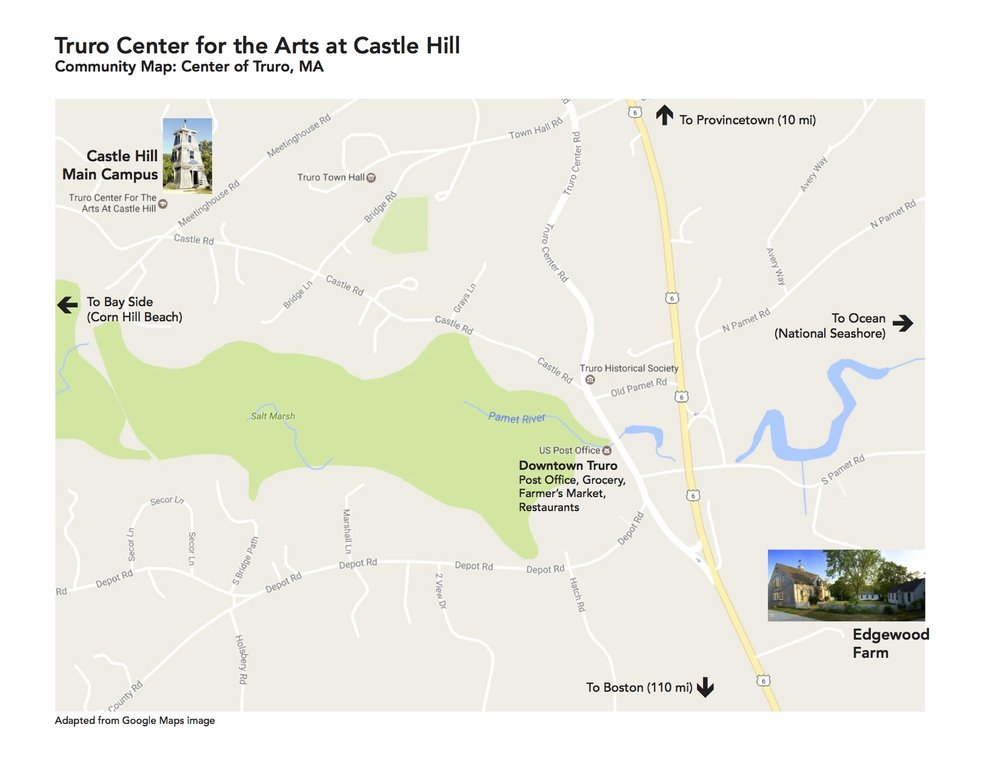 Directions Truro Center for the Arts at Castle Hill